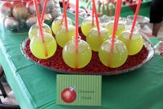 What a cute way to serve up margaritas at your holiday party!