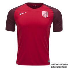 2017 NIKE USA Red Third Jersey
