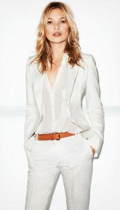 Kate Moss. White on white.