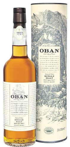 Oban 14 year old single malt scotch
