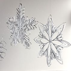 Toilet roll snowflakes! Great idea for recycling!