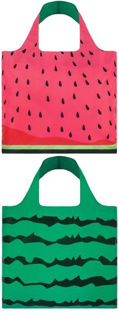 LOQI Tote Frutti - Watermelon  shopper  reusable  grocerybag   boodschappentas  abodeeloqibags 21cb9cb09b