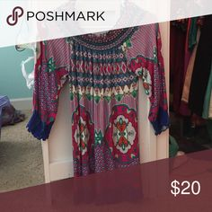 Off the shoulder multi colored Perfect condition. So cute on Tops Blouses