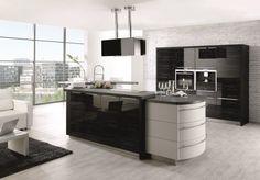 Ausgefallene Küchen * Designerküche * schwarze Kücheneinrichtung von Mecandor