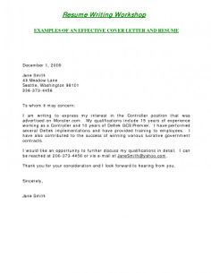 example of employment cover letters