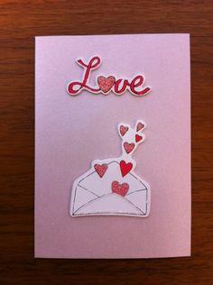 Sending Love Wooden Embellishment Card | Valmade - Cards on ArtFire