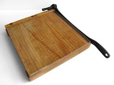 i really want a solid wood paper cutter...maybe one like this?