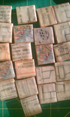 Encaustic collage teeny tiles | Flickr - Photo Sharing!