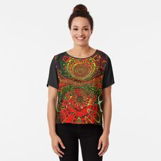 Red Flowers, Colorful Flowers, Painted Flowers, Butterfly Flowers, Red Roses, Mosaic Flowers, Floral Watercolor, Chiffon Tops, Fitness Models