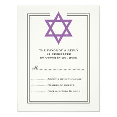 Purple Star of David Bar Mitzvah reply card Custom Announcement online after you search a lot for where to buyDiscount Deals          Purple Star of David Bar Mitzvah reply card Custom Announcement Online Secure Check out Quick and Easy...