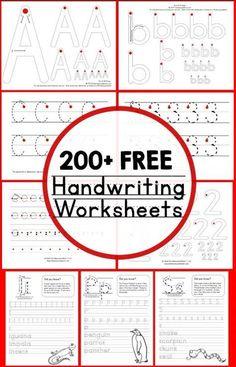 Free Handwriting Worksheets, Teaching Handwriting, Kindergarten Handwriting, Free Worksheets, Tracing Worksheets, Handwriting Practice Free, Handwriting Worksheets For Kids, Writing Practice Worksheets, Learn Cursive