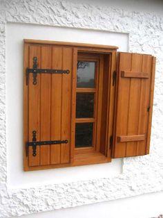 House Shutters, Diy Shutters, Interior Shutters, Window Shutters, Tv Wall Design, Window Design, Dream Home Design, House Design, Outdoor Shutters