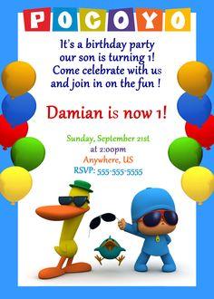 Pocoyo Birthday Party Invitations $8.99