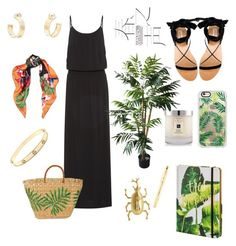 A fashion look from March 2017 featuring long length maxi dresses, black open toe flats and fringe tote bag. Browse and shop related looks. Heidi Klein, Jo Malone, Ashley Stewart, Cartier, Casetify, Exploring, Polyvore Fashion, Bali, Valentino