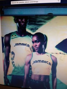 Grooming on Usain Bolt & makeup on Shevon Stoddart by me for the PUMA campaign/Jamaican team-Olimpics London 2012- uniform designs by Ms Cedella Marley