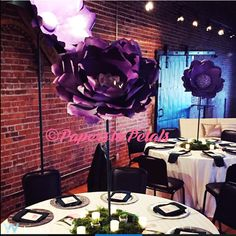 These beautiful 36 inch tall paper flowers on stems make a perfect centerpiece for your next party or event. These can be made in any color combination. Please contact me before you purchase and to discuss any details. ***Shipping will vary depending on where it is being shipped to. I will give you a custom quote when you are ready to order. Thank you
