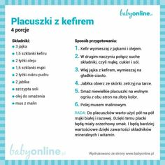 Śniadania do druku – placuszki z kefirem Baby Cooking, Cooking With Kids, Wellness, Kefir, Physical Activities, Fett, Baby Food Recipes, Recipies, Clean Eating