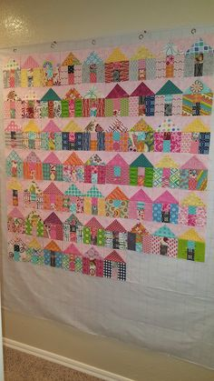 cute house quilt...great for scraps