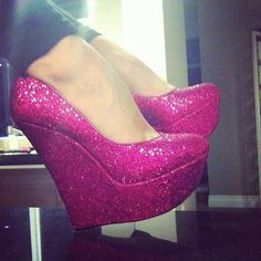 Maybe not wedges but sparkly pink pumps would be cute