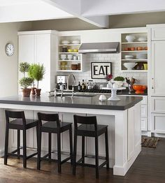 Browse photos of Small kitchen designs. Discover inspiration for your Small kitchen remodel or upgrade with ideas for organization, layout and decor. Compact Kitchen, New Kitchen, Kitchen Dining, Kitchen Ideas, Eclectic Kitchen, Kitchen Layout, Kitchen Stools, Kitchen Trends, Kitchen Storage