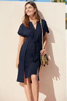 Buy Navy Belted Dress online today at Next: United States of America