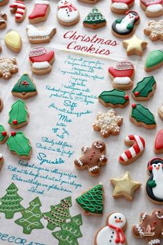 Miniature Christmas Cookies and Recipe ~ Sweetopia