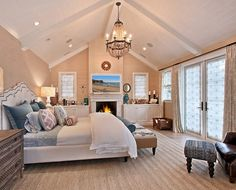 Cathedral bedroom ceiling lights ideas | Decolover.net