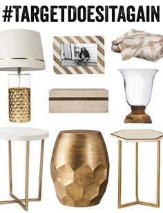 the Hunted Interior& Picks for Threshold& new Spring 2014 Line for Gold Living Room, Hunted Interior, Apartment Decor, Gold Bedroom, Home Accessories, Home, Interior, Lamps Living Room, Home Decor