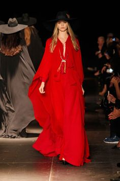'Runway Report: Spring 2013 - Saint Laurent Paris' // We've got lipstick red on our minds | Fashion Fighting Famine