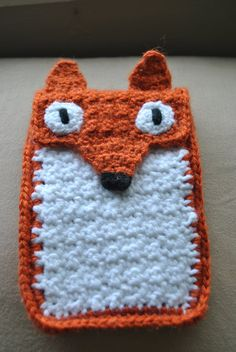 Roxy Fox Crocheted iPhone Cozy by TheKnitterKritter on Etsy, $20.00