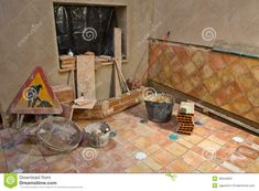 Photo about Construction site building. Incomplete rustic andalusian courtyard under construction. Image of signal, masonry, mason - 46044003 Rustic, Stock Photos, Building, Image, Country Primitive, Buildings, Retro, Farmhouse Style, Primitives