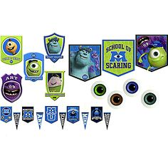 Our Monsters University Decorating Kit includes wall hangings and ceiling danglers to match your Monsters Inc birthday theme.