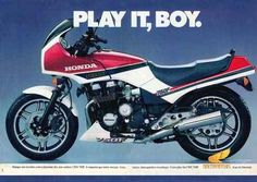 12653 - MOTORCYCLE - HONDA 1987 - CBX 750F - Play it, Boy. Marque um encontro com a - 41x29-