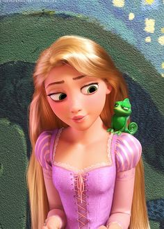 Rapunzel and Pascal - Tangled