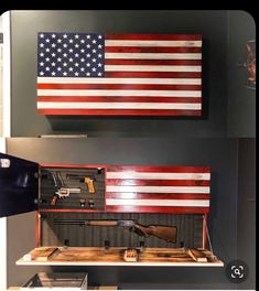 Rustic American Flag, Concealed Weapon Flag Cabinet, Wooden American Flag, American Flag Wall Art, W Woodworking Tools List, Popular Woodworking, Woodworking Projects, Woodworking Bench, Youtube Woodworking, Woodworking Supplies, Woodworking Workshop, Woodworking Equipment, Woodworking Machinery