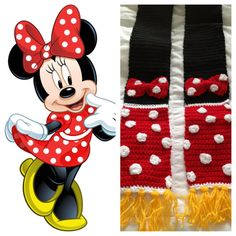Minnie Mouse inspired Scarf by CrafTCreation13 on Etsy, $40.00