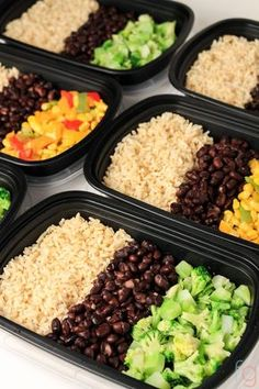 30 Minute Vegan Meal Prep Vegan Meal Prep on a Budget - Easy Vegetarian Meal Prep for the Week - Make Ahead Meals Healthy - Lunch Ideas - Lunch Box Ideas for Adults - Cheap Meals on a Budget - Frugal Living Ideas Vegetarian Meal Prep, Vegetarian Recipes Easy, Healthy Meal Prep, Healthy Foods To Eat, Healthy Snacks, Healthy Eating, Vegan Vegetarian, Cheap Recipes, Meal Prep For Vegetarians