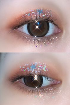 $3.99; The Stardust Glitter Makeup is made from a mixture of glittery holographic silver/gold stars,  diamonds, circles and glittery magical dust designed to make your face and body shine! #glittermakeup #aestheticmakeup #kamakulashop #starglitter #festivalmakeup #Halloweenmakeup #starmakeup #stareyes Star Makeup, Makeup Art, Flower Makeup, Star Eyes, Art Of Beauty, Festival Makeup, Star Jewelry, Aesthetic Makeup, Glitter Makeup