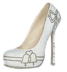 Adrian Diamante Blue bottom wedding shoes