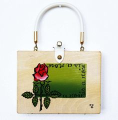 Enid Collins A Rose is a Rose is a Rose box bag by niwotARTgallery, $150.00