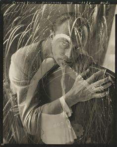 Edward Steichen, Conrad Veidt No. 2 (double exposure with Lupe Vélez), Hollywood, August 1928 Edward Steichen, Conrad Veidt, Lupe Velez, The Man Who Laughs, Best Portrait Photographers, Alfred Stieglitz, Hollywood, Gelatin Silver Print, Black And White Portraits
