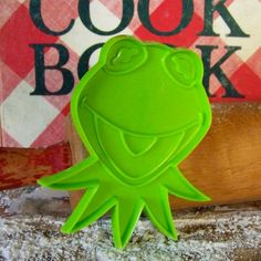 Kermit the Frog here to make your cookies in cute muppets shapes!!