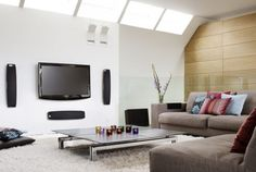 Small-living-room-design-ideas-Modern Day Living Room TV Idea