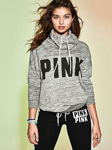 Shop Tops - Pullovers, Crew Neck Hoodies, Tanks & More - PINK