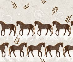 A Dance with horses on white fabric by liluna on Spoonflower - custom fabric - SO PRETTY. Pink Wallpaper Ios, Aztec Wallpaper, Horse Wallpaper, Wallpaper Backgrounds, Iphone Backgrounds, Screen Wallpaper, Iphone Wallpapers, Horse Fabric, Horse Quilt