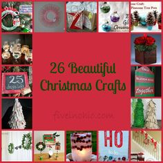 26 Beautiful Christmas Crafts - Five in Ohio