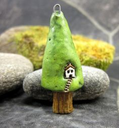Pine InnStoneware Pendant by elukka on Etsy, €16.00