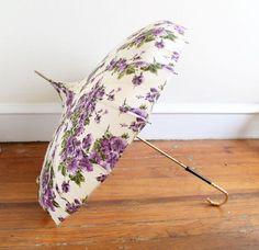vintage purple umbrellas | Floral Umbrella Pagoda Style by theelmsvintage on Etsy, $68.00