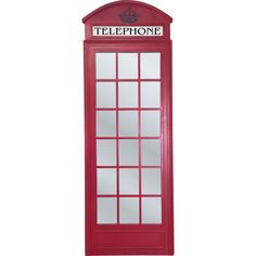 Add iconic British style to your wall decor with this charming London telephone box mirror, an inimitable infusion of nostalgic flair.MDF frame with lacquered red paint finish. Telephone Booth, Red Paint, British Style, Wall Decor, London, Mirrors, Mirror Mirror, Box, Furniture