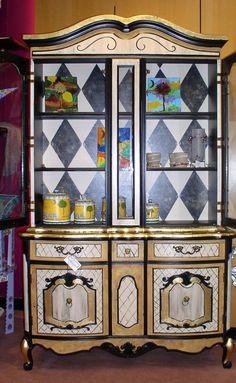 Custom painted China Cabinet